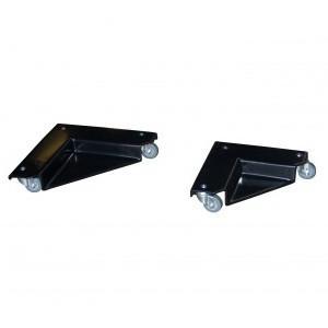 Levage manutention légère-Coins roulants métalliques recouverts de PVC antidérapant