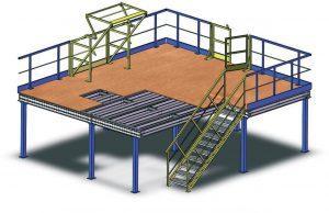 Plateformes de Stockage et Mezzanines-Plates formes modulables